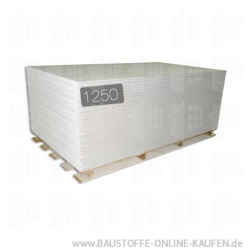 Gipskartonplatte GKB 9.5mm 1250 von Rigips Knauf Siniat Norgips