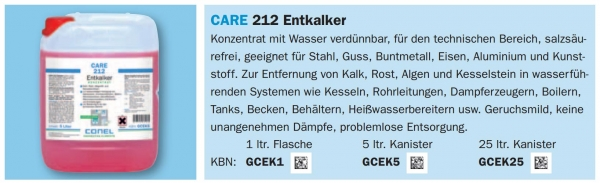 Care 212 Entkalker